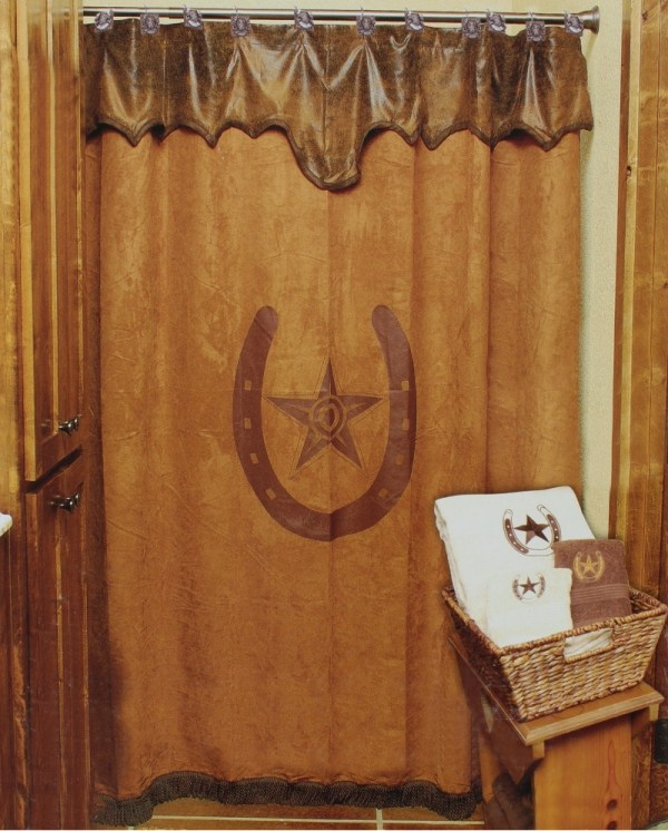 Western Moments Star & Horseshoe Shower Curtain - Fort Brands