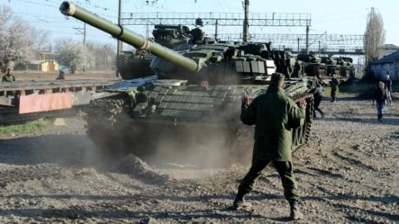 Russian tank in Crimea