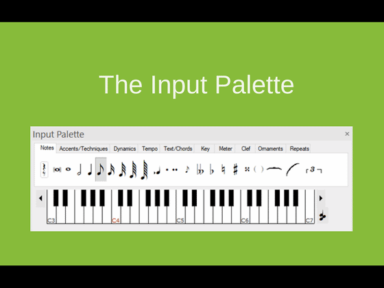 How To Write Notes The Input Palette Forte Notation