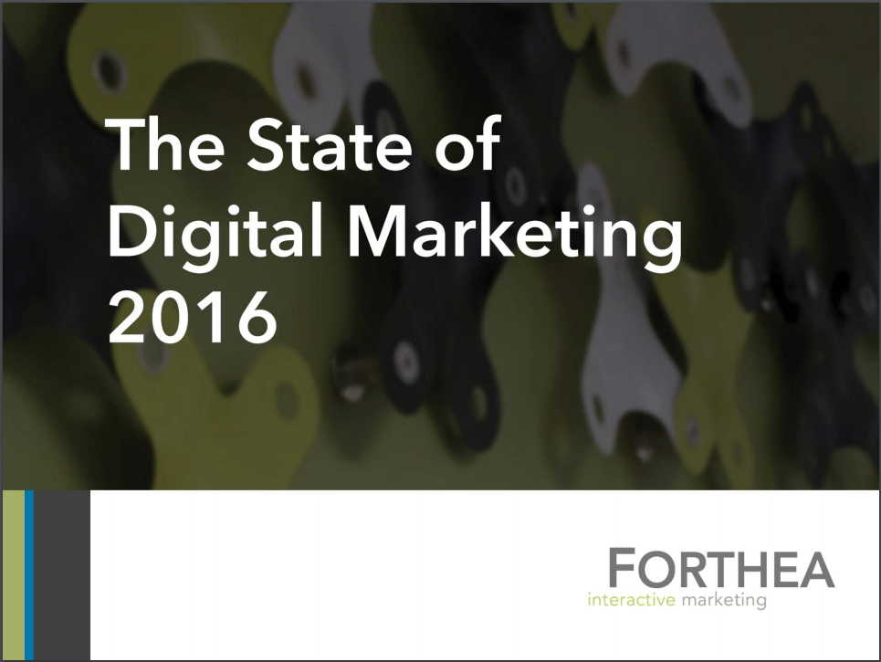The State of Digital Marketing 2016