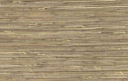 Dark Beige Grasscloth Wallpaper 15a