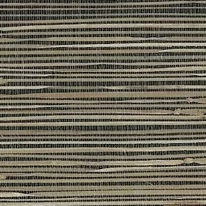 Black Beige Natural Grasscloth Wallpaper Textured NZ0786 Double Rolls