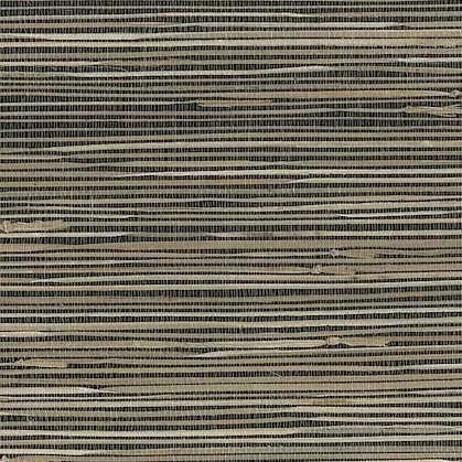 Black Beige Natural Grasscloth Wallpaper SAMPLE