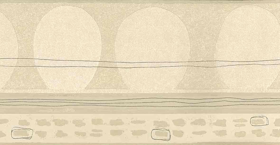 geometric beige wallpaper border, gray, egg, rectangles, lines, foyer, living room