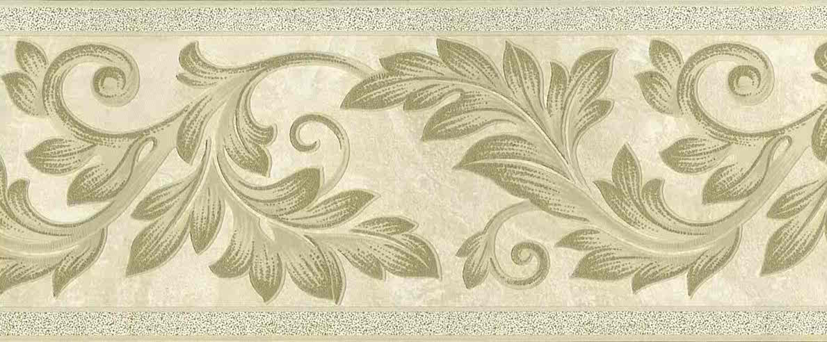 Gold Scroll Wallpaper Border Cream Embossed Uk 93304 Free Ship