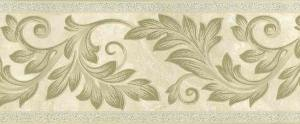 gold scroll wallpaper border,cream,embossed,leaves,classical,dining room,bedroom