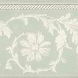 Green Cream Floral Wallpaper Border RP2238-B FREE Ship