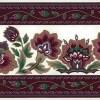 Waverly magenta vintage wallpaper border, taupe, cream, green, dining room, bedroom, kitchen