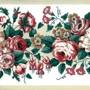 Waverly Roses Vintage Wallpaper Border Pink Lavender 561802 FREE Ship