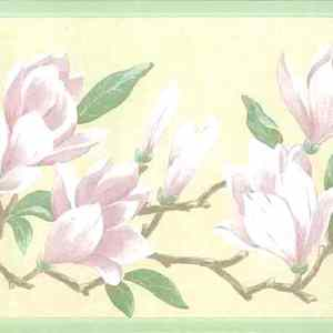 Magnolia Vintage Wallpaper Border Kitchen Cottage RKB9120B FREE Ship