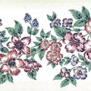 Red Floral Vintage Wallpaper Border Green Kitchen GH16318 FREE Ship