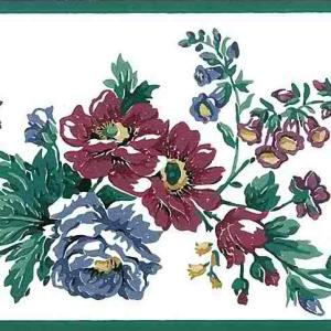 Old-Fashioned Vintage Floral Wallpaper Border Red GP19445 FREE Ship