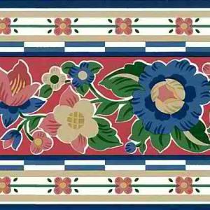 Floral Vintage Wallpaper Border Waverly Red Kitchen 565412 FREE Ship
