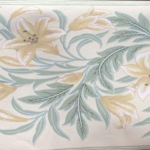 Lilies Vintage Floral Border Schumacher 893-7644 FREE Ship