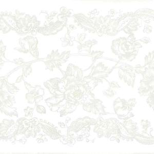 Vintage Floral Wallpaper Border Gray White Kitchen SM2011 FREE Ship