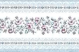 Victorian Cottage Wallpaper Border Blue Pink 31-13337 Free Ship