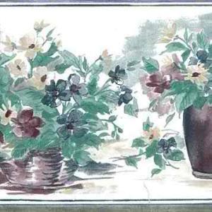 Daisy Vintage Wallpaper Border Kitchen Floral Green 14923 FREE Ship