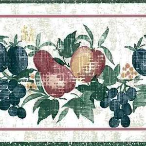 Fruit Kitchen Wallpaper Border Blue Red Green CK3432B FREE Ship