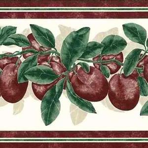 Plums Vintage Kitchen Border Purple Green KI18510 FREE Ship