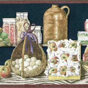 Americana Vintage Wallpaper Border Fruit Kitchen BX75002B FREE Ship