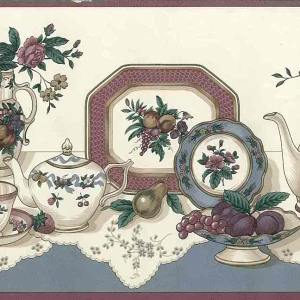 Vintage Kitchen Border Coffee Tea CS8331B FREE Ship