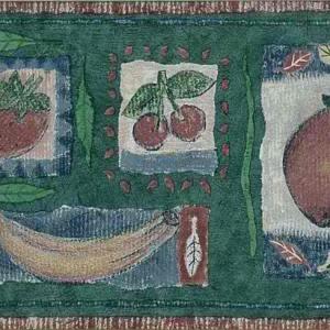 Kitchen Vintage Green Border Fruit 52839816 FREE Ship