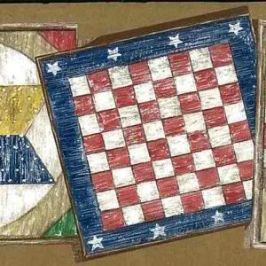Americana Vintage Wallpaper Border Board Games HIC0031 FREE Ship