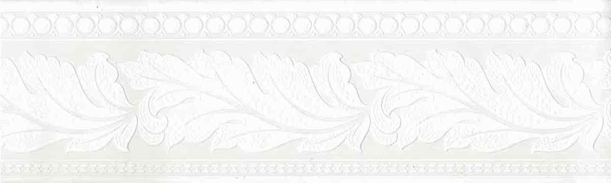 Paintable wallpaper border, leaf, leaves, white, strippable, embossed, textured, sculptured, bedroom, study,