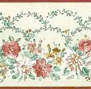 John Wilman Vintage Floral Wallpaper Border Cottage 250760 Free Ship