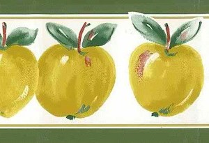 Yellow Apples Vintage Wallpaper Border Kitchen CK70341V FREE Ship