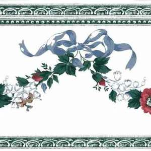 Waverly Floral Swag Vintage Wallpaper Border Cottage 555885 FREE Ship