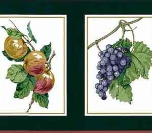 Green Fruit Vintage Wallpaper Border Kitchen Waverly 570520 FREE Ship