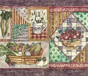 Purple Vegetable Vintage Wallpaper Border Kitchen DLM8091 FREE Ship