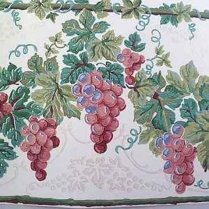 Glazed Grapes Vintage Wallpaper Border Kitchen 598181 FREE Ship