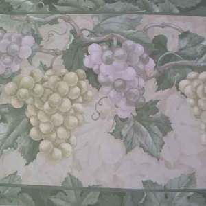 Green Grapes Vintage Wallpaper Border Fruit Kitchen CTC253B FREE Ship