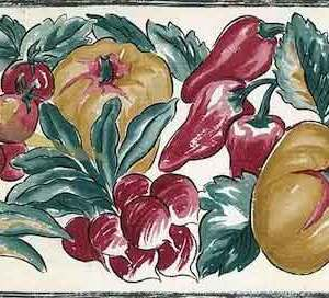 Vintage Vegetable Wallpaper Border Kitchen Cottage PL2053B FREE Ship