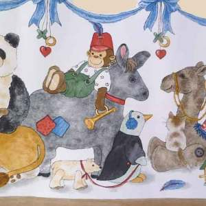 Vintage Animal Circus Wallpaper Border Childrens 750-S6131 FREE Ship