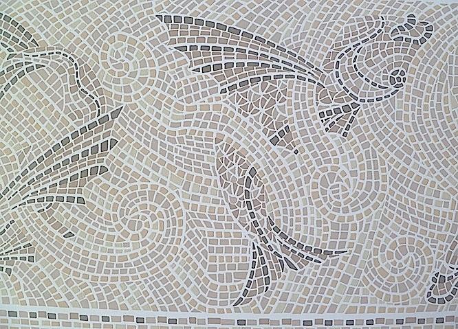 Black And Cream Damask Wallpaper Mosaic Tile Vintage Wallpaper Border Fish Gray Nr1001b