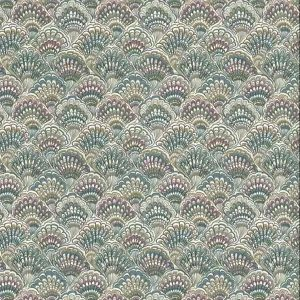 shell paisley vintage wallpaper, taupe, gray, rose, green, nautical, bathroom, cottage, bedroom