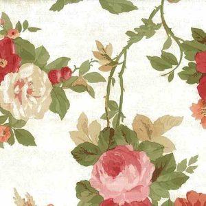 Poppies Floral Vintage Wallpaper Red Orange Pink WW4420 D/Rs
