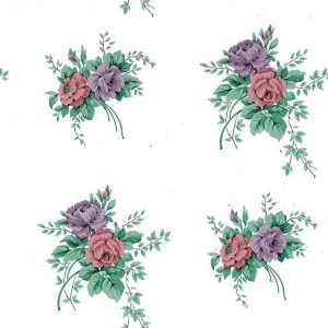 Roses Bouquet Vintage Wallpaper Cottage Floral TK5082 D/Rs