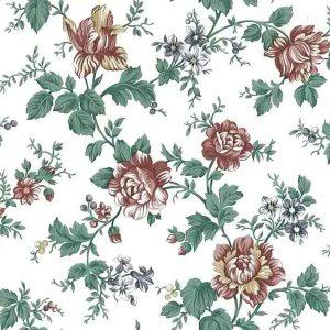 Vintage Wallpaper Shabby Chic Floral Satin Finish UK 90040 D/Rs