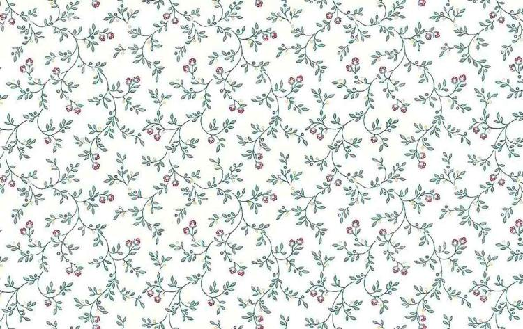 small-scale Victorian floral wallpaper