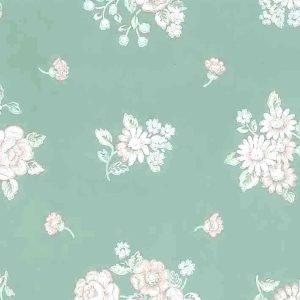 Green Pink Floral Vintage Wallpaper Blue White Bedroom SM2143 D/Rs