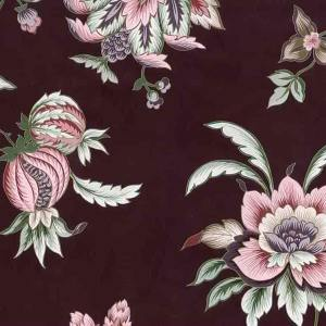 Maroon Floral Vintage Wallpaper Pink Rose Gold Metallic UK 24702 D/Rs