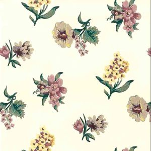 Old Fashioned Floral Vintage Wallpaper Purple Yellow 598132 D/Rs