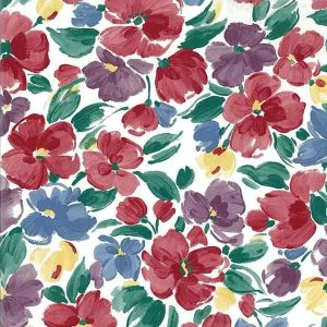 Multi-Color Floral Vintage Wallpaper Red Blue Purple Kitchen KM2122 D/Rs