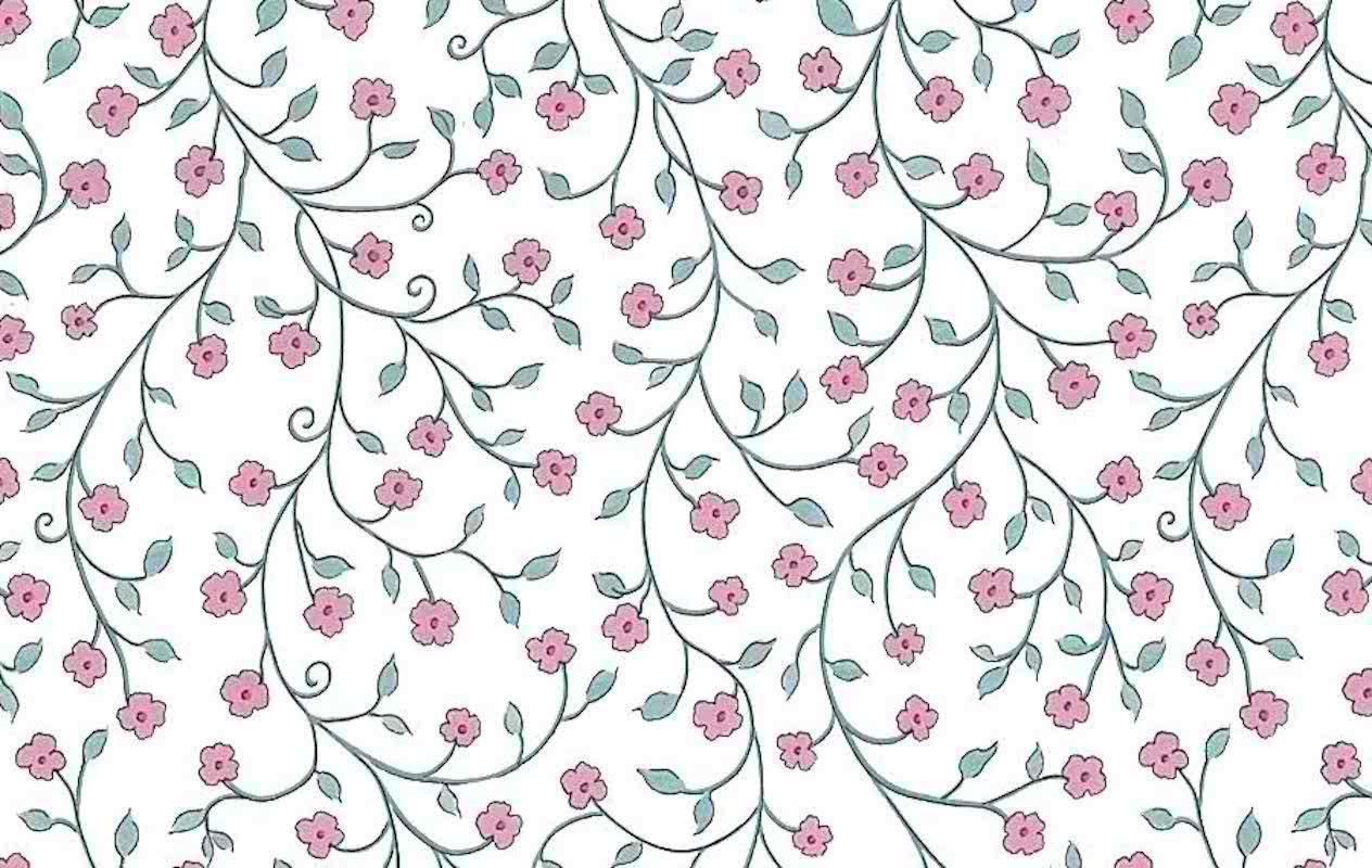 Victorian Floral Vintage Wallpaper Pink Blue Am2043 D Rs