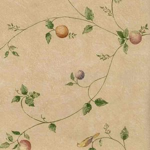 Beige Kitchen Vintage Wallpaper RKB9195 Double Rolls