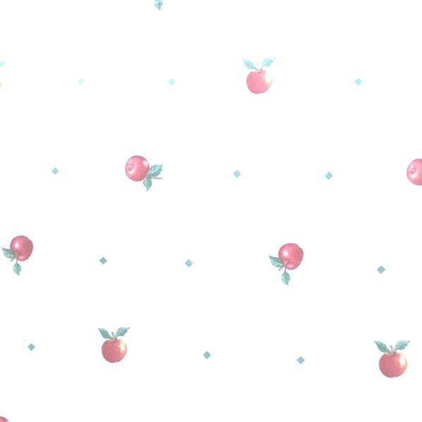 red apples vintage wallpaper, kitchen wallpaper, green, off-white